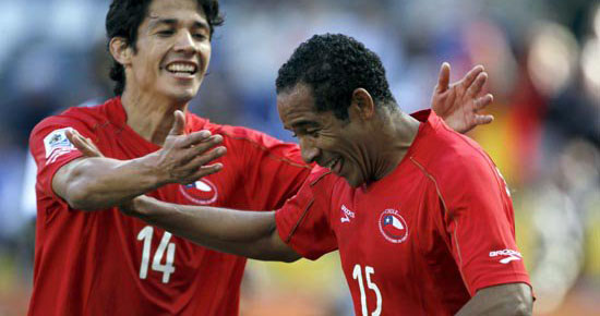 Jean Beausejour scored the Chilean goal (minute 34) in a game played before some 40,000 spectators.