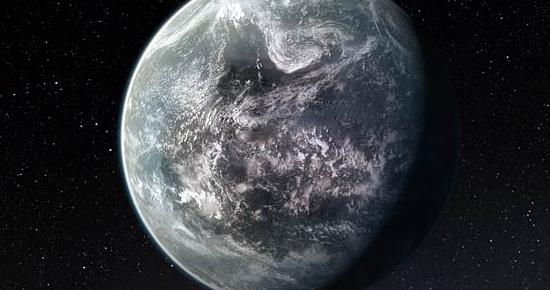 Impresión artística del planeta que orbita la estrella similar al Sol HD 85512, en la constelación de la Vela.