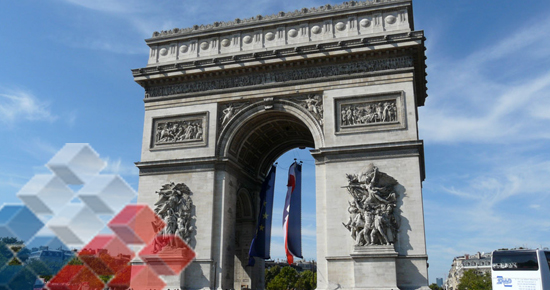 "In the midst of the Champs Elysees and only a few steps from the Arc de Triomphe, is the exhibit ""Chile, the other side of the coin"""
