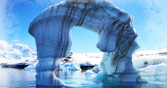 A natural ice sculpture in Antarctica. Photo by Guille Avalos / Flickr.