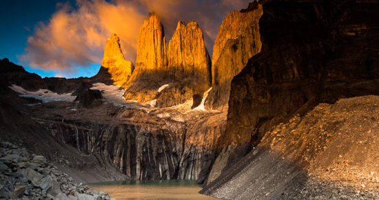 The granite towers of Patagonia's iconic Torres del Paine National Park. Photo courtesy of Reforestemos Patagonia.