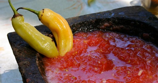 Summit guests will be able to feast on such culinary treats as Chile's spicy signature condiment pebre. via Pebre Chile / Facebook