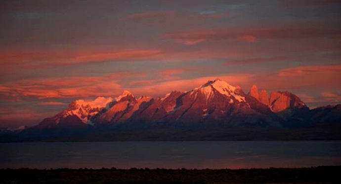 Sunrise at Tierra Patagonia is just one of the beautiful sights to see. Photo by Tierra Patagonia / Facebook.
