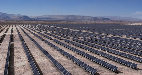 The Atacama Desert has the highest solar energy potential in the world. Photo by Codelco / Flickr