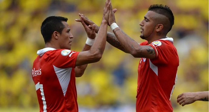 Winger Alexis Sanchez and midfielder Arturo Vidal are two of Chile's most important players. Photo by Alexis Sanchez / Facebook page.